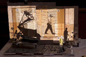 Model with projections for 'Winterreise.'  Concept, stage direction and visual creation by William Kentridge.